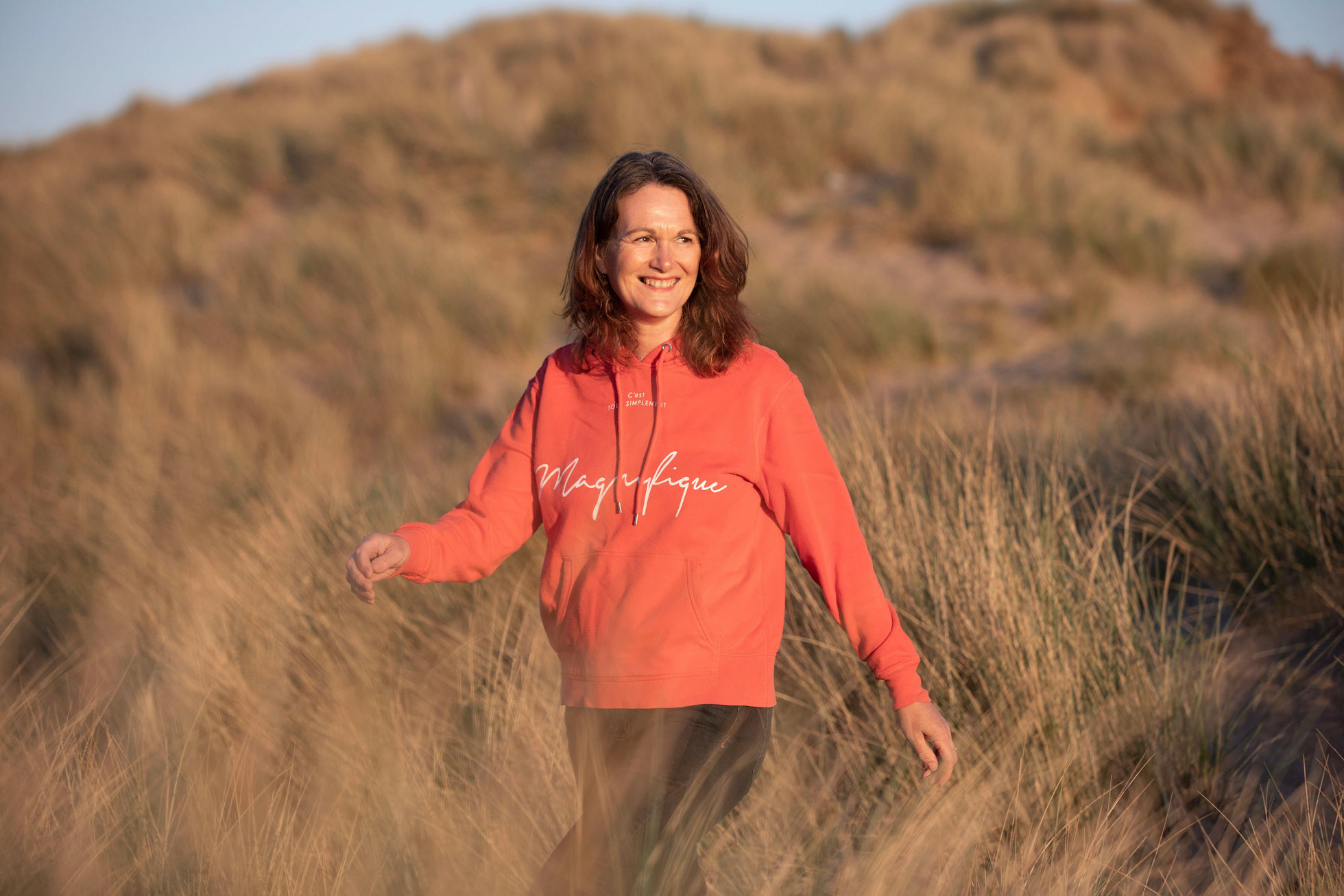 Walking in Saunton dunes